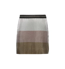 Like Flo Like Flo Girls Colour block metallic Plisse Skirt Metallic