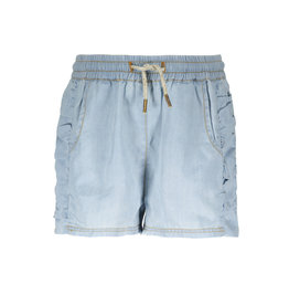 Like Flo Like Flo Girls Denim Ruffle short Denim