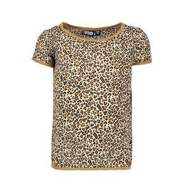 Like Flo Like Flo Girls Woven animal short sleeve Top Animal