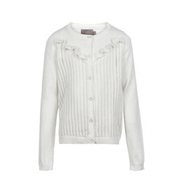 Creamie Creamie Cardigan pointelle knit cloud