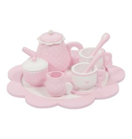 Little Dutch Theeservies Hout-Pink