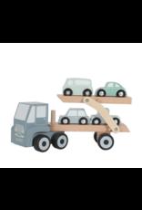 Little Dutch Houten Transportwagen-Adventure Blue