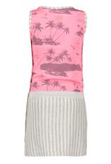 B.Nosy B.Nosy Girls Jersey Dress with aloha top and stripe Skirt Pink