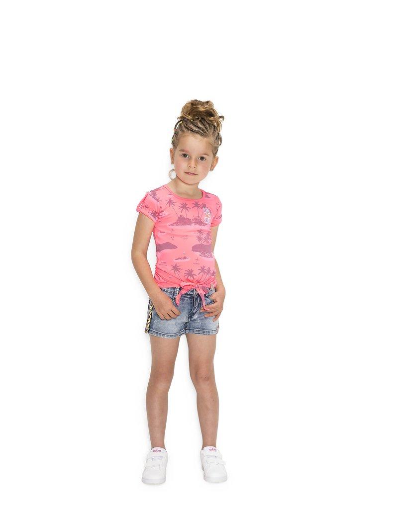 B.Nosy B.Nosy Girls short Denim Pants with tape on side Light denim