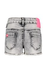 B.Nosy B.Nosy Girls short Denim Pants with flower patch Grey Denim