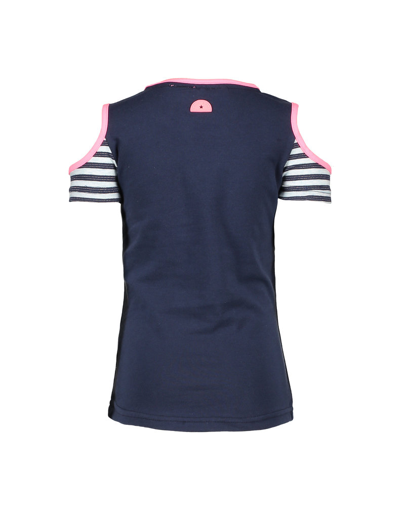 B.Nosy B.Nosy Girls short sleeve Shirt with open shoulders Midnight Blue