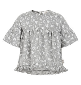 Creamie Creamie T-shirt printed jersey SS light grey melange