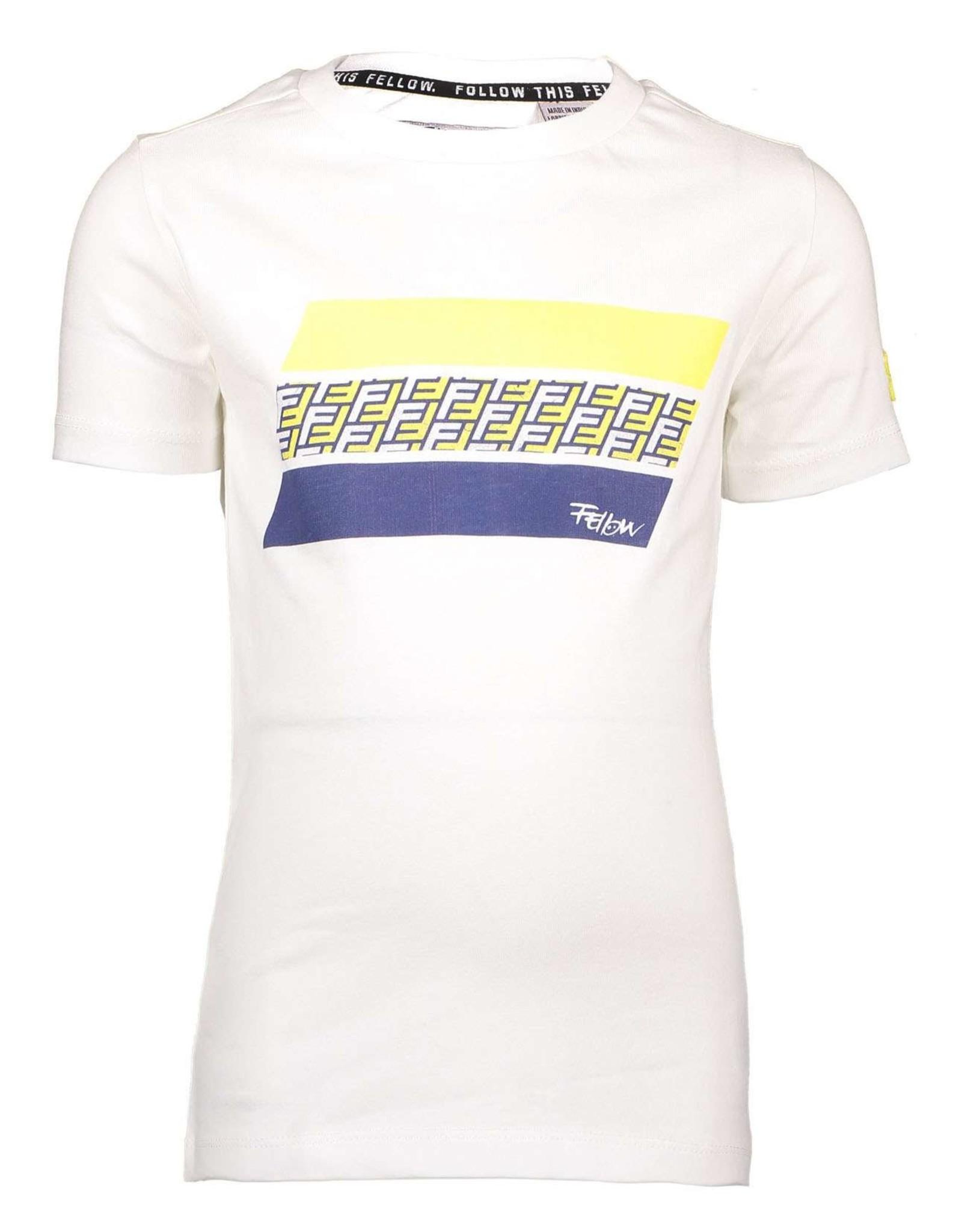 Moodstreet Fellow Moodstreet Fellow T-shirt Follow this Fellow White