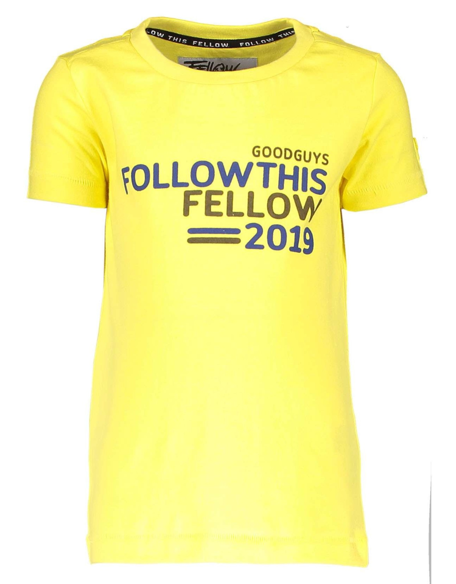 Moodstreet Fellow Moodstreet Fellow T-shirt chest artwork Washed Yellow