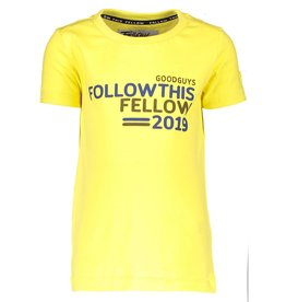 Moodstreet Fellow Moodstreet Fellow T-shirt chest artwork Washed Yellow