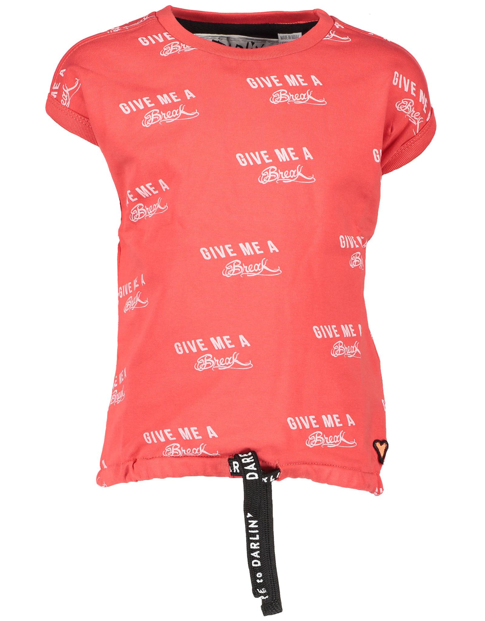 Moodsteet Darlin Moodstreet Darlin Top Fancy Tape hem Soft Red