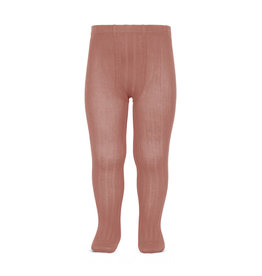 Condor Condor Wide Rib Basic Tights Terracota