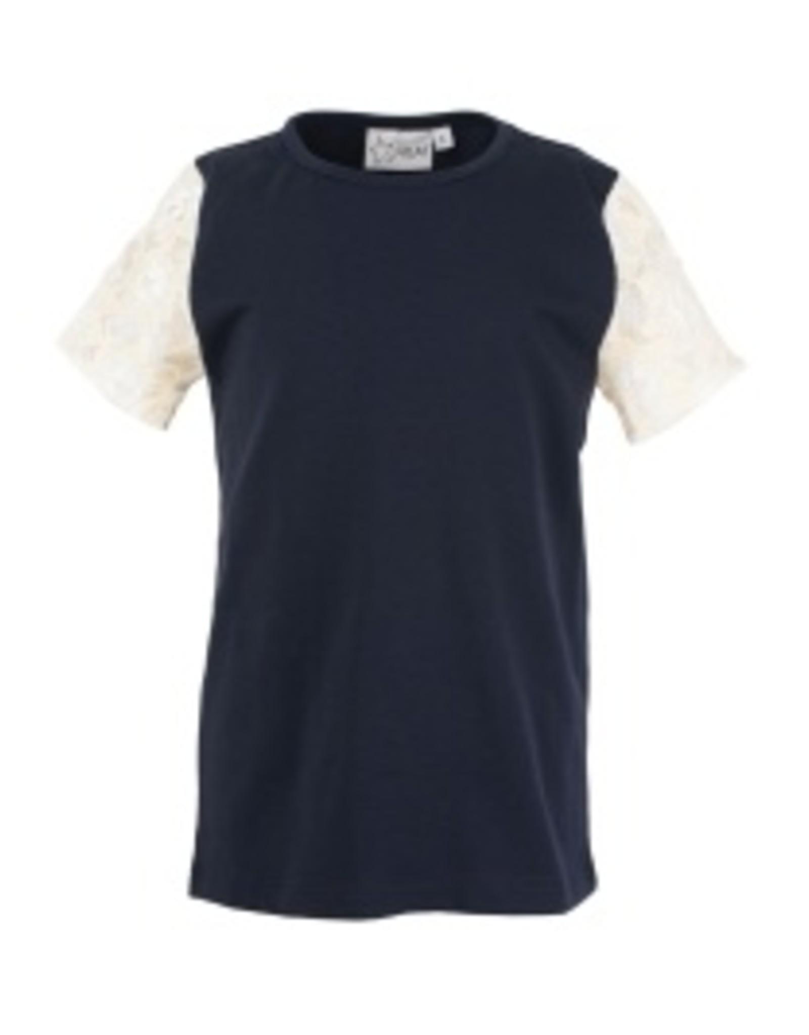 Starfreak Starfreak T-shirt with Lace Sleeve Jersey Co/El Blue