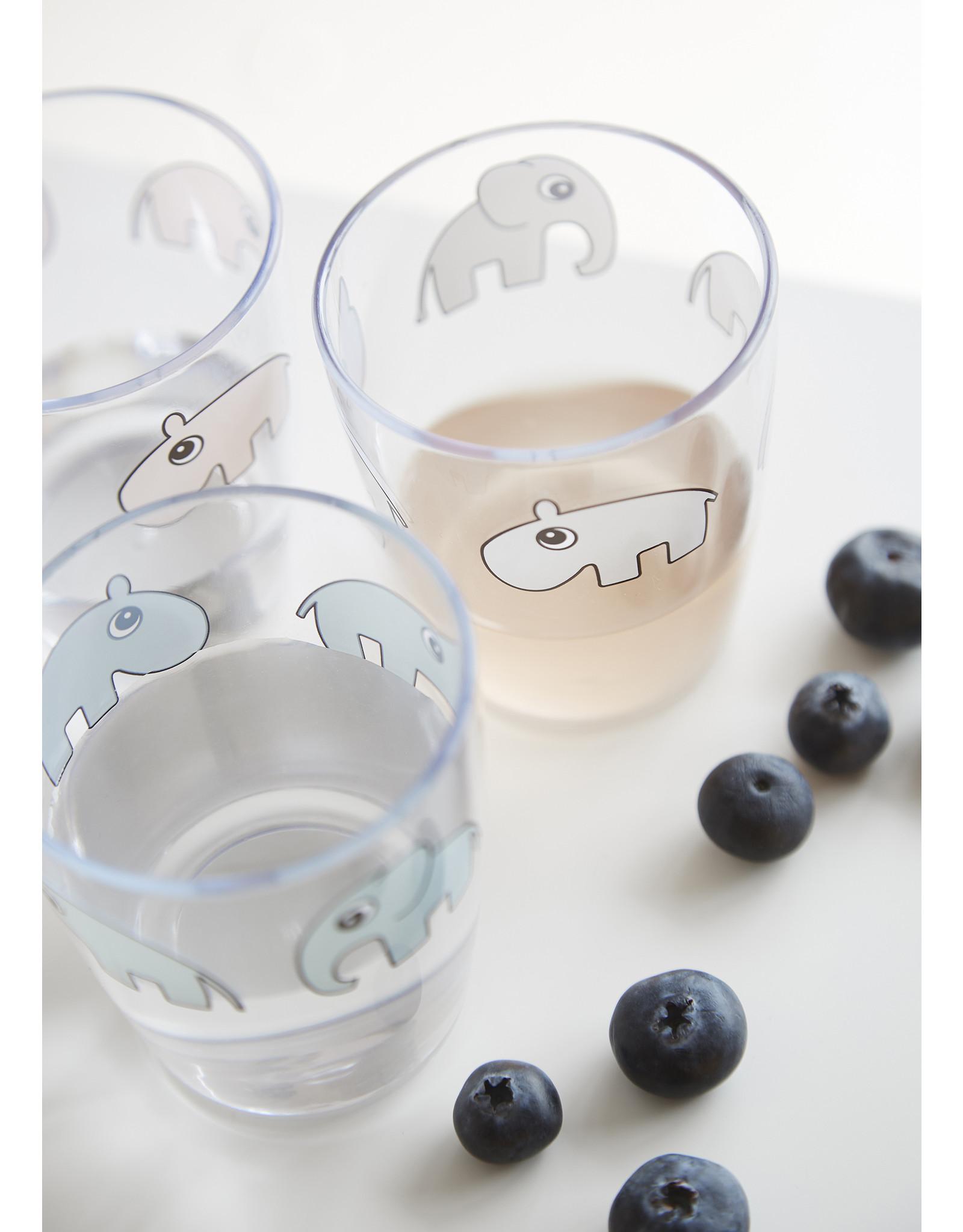 Done by Deer Yummy Mini Glass, Deer Friends, Grey