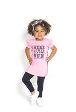 B.Nosy B.Nosy Baby Girls Dress with contrast back side Bubblegum