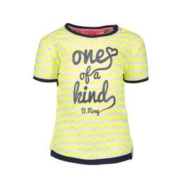 B.Nosy B-Nosy Baby Girls Zigzag Printed Shirt- Yellow Rainbow Melee