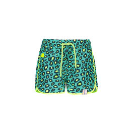 B.Nosy B-Nosy Girls Woven Beach Short-Turquoise/Midnight-Electric Yellow