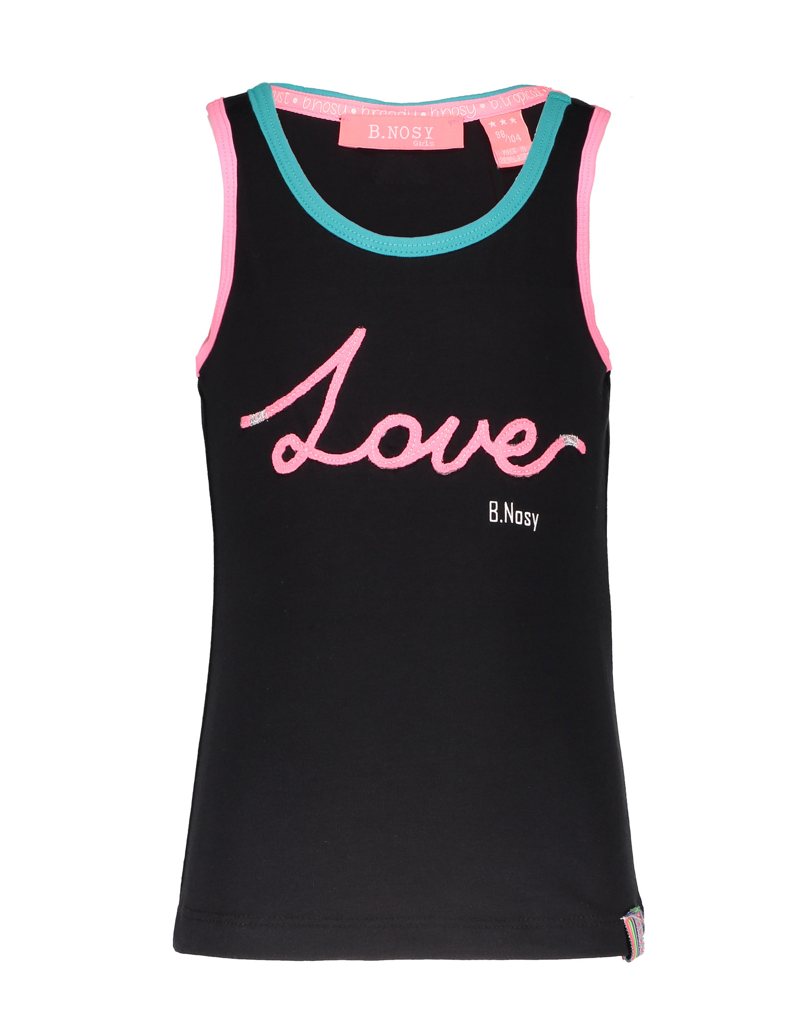 B.Nosy B.Nosy Girls Love Rope Singlet-Black