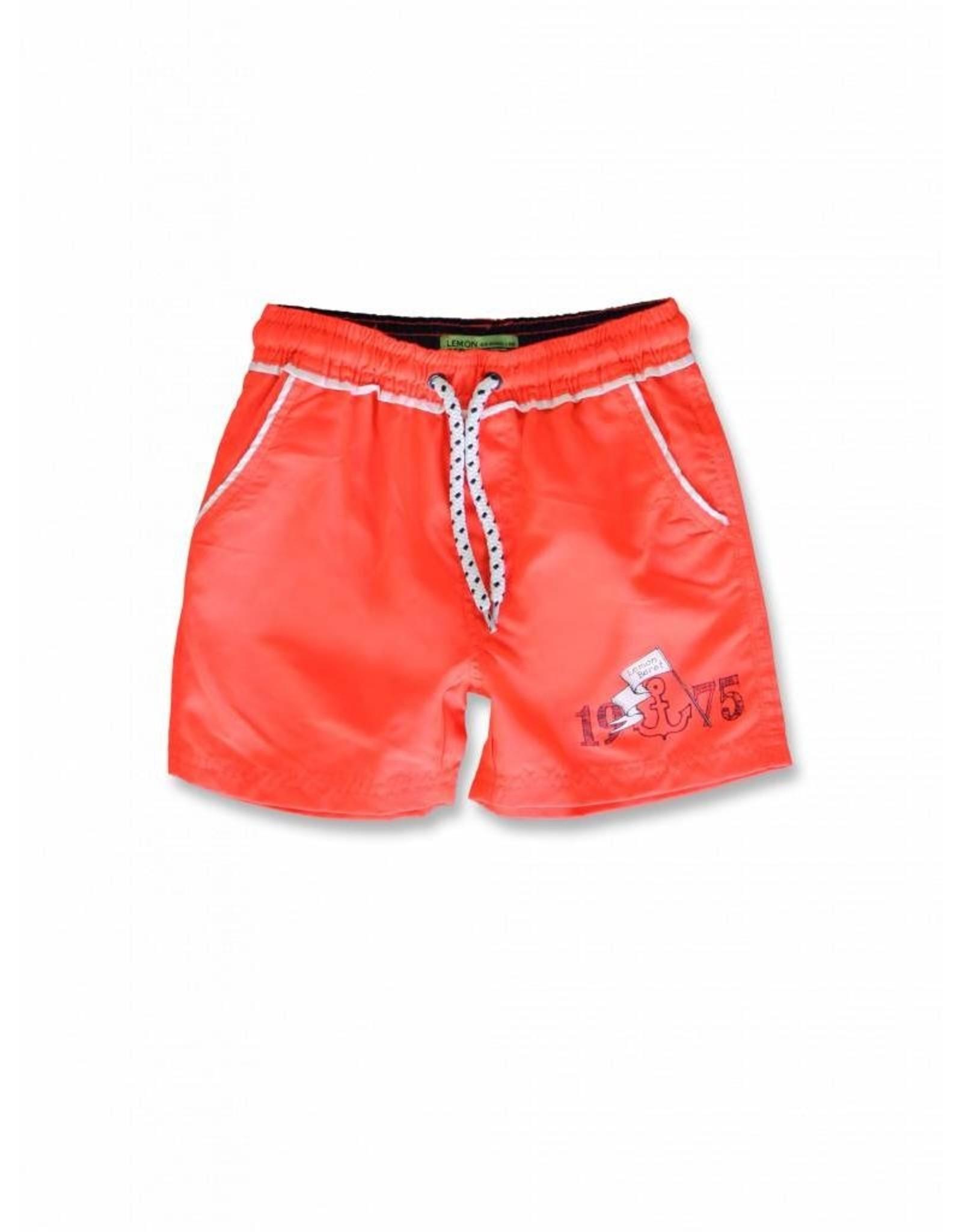 Lemon Beret Lemon Beret Small Boys Swimwear Fiery Coral