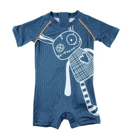 Small Rags Small Rags Beach Suit Mallard Blue