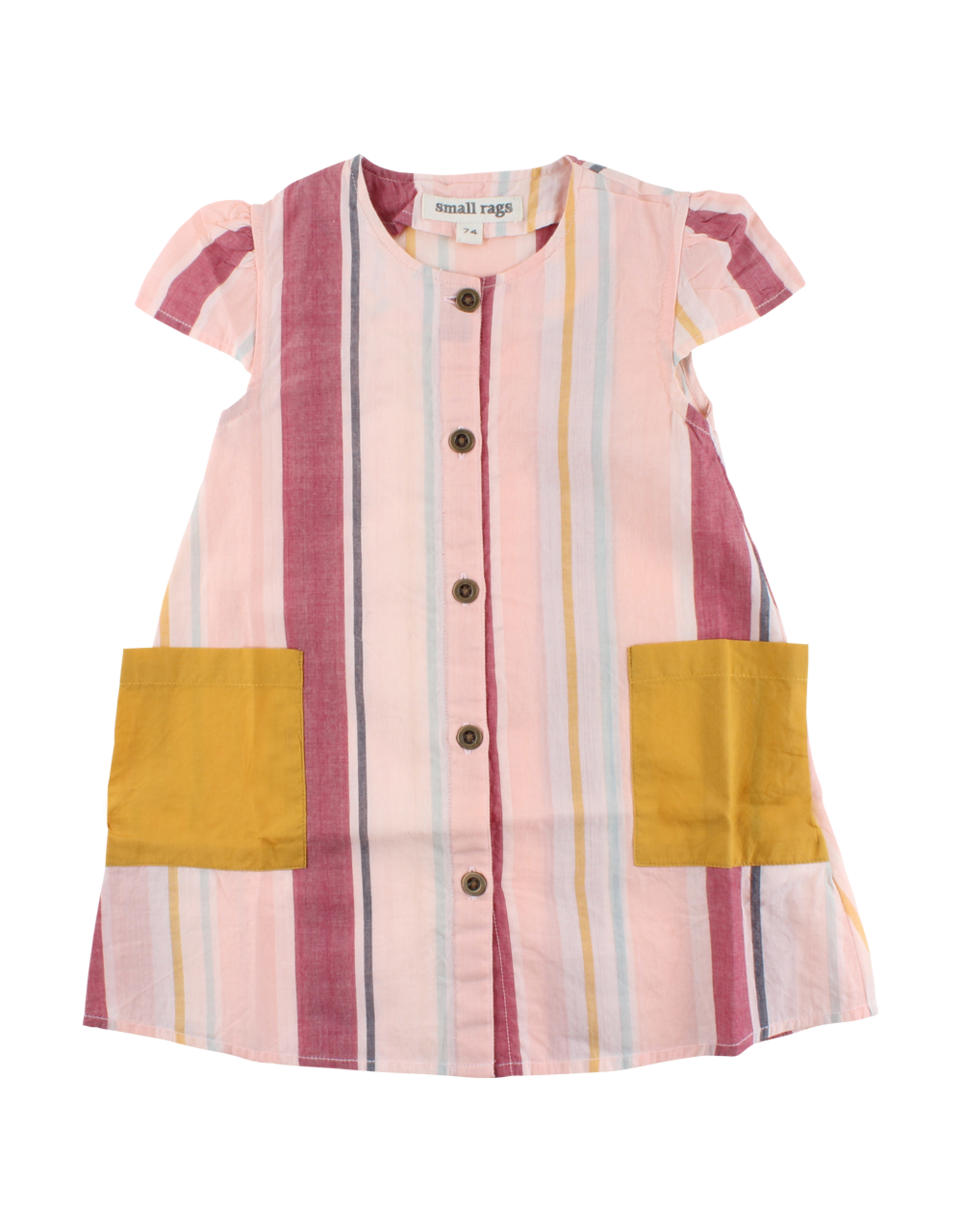 Small Rags Small Rags Short Sleeve Dress Pearl Blush