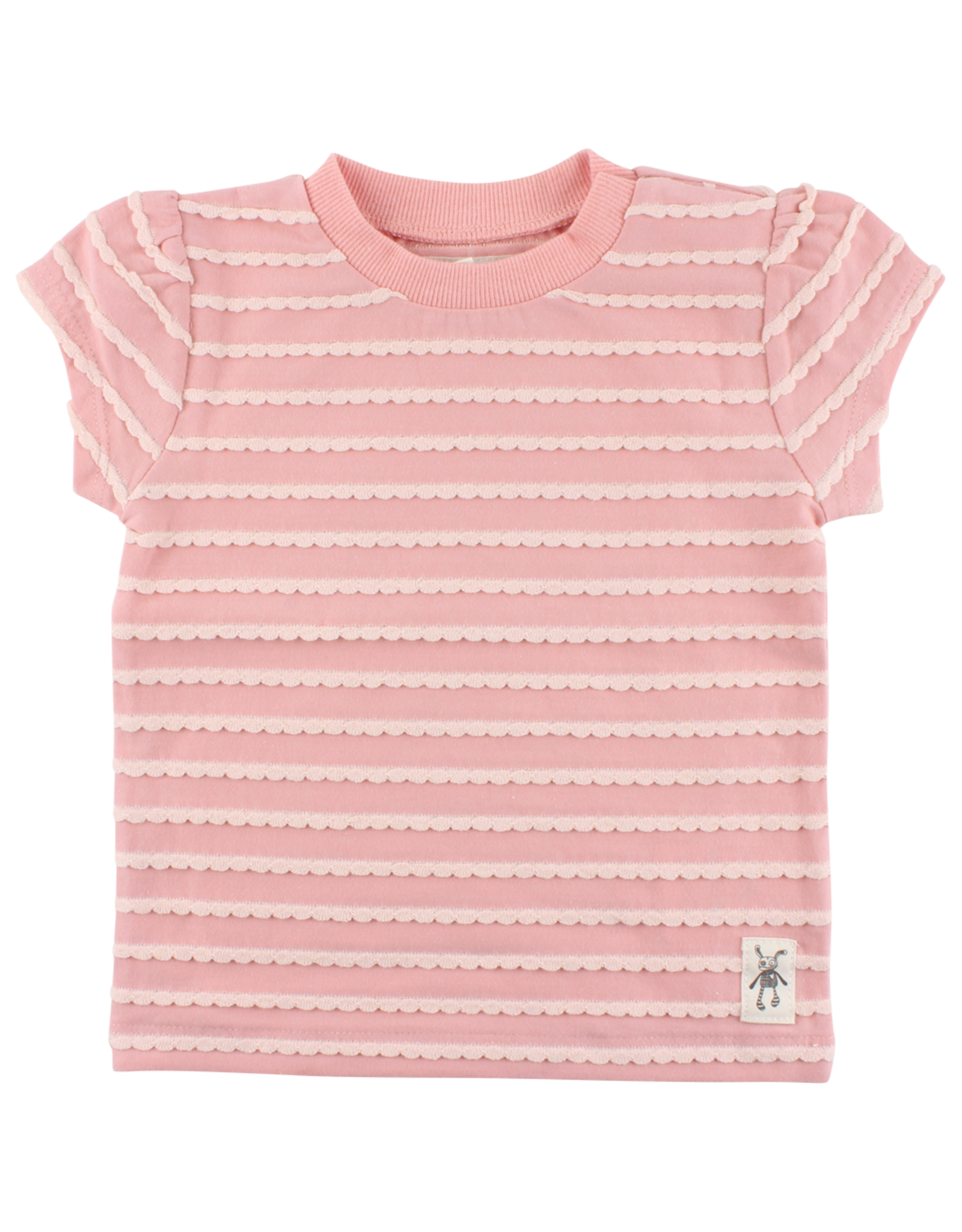 Small Rags Small Rags Short Sleeve T-shirt Coral Cloud