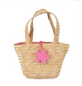 Egmont Toys Boodschappentasje gevlochten roze bloem