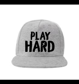 """Van Pauline Van Pauline Cap  """"Play Hard"""" Grijs"""