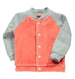 Moodsteet Baby Moodstreet Baby Cardigan contrast sleeves Pale Red