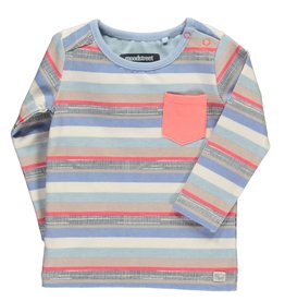 Moodsteet Baby Moodstreet Baby Long Sleeve patched pocket Multi Stripe