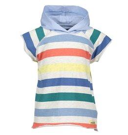 Moodstreet Mini Moodstreet Mini Hooded T-Shirt Stripe- Multi-Stripe