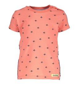 Moodstreet Mini Moodstreet Mini T-shirt Star/Contrast Tape-Light Red