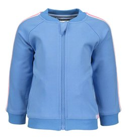Moodstreet Mini Moodstreet Mini Cardigan Sporty Stripe-Light Blue