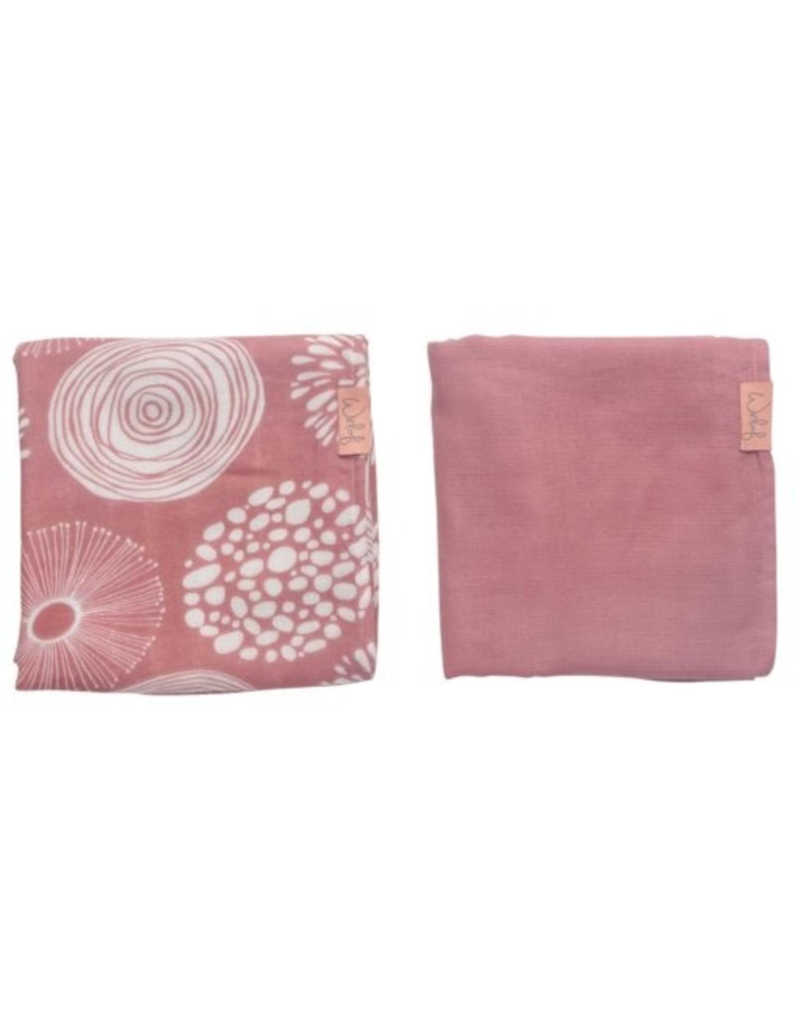 Witlof for Kids Witlof for Kids Swaddle / Hydrofiele doek 2 Pack  Sparkle Rose