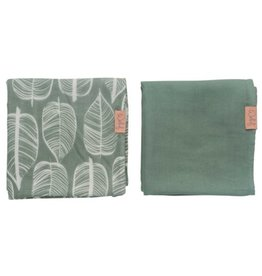 Witlof for Kids Witlof for Kids Swaddle / Hydrofiele doek 2 Pack  Beleaf Sage Green