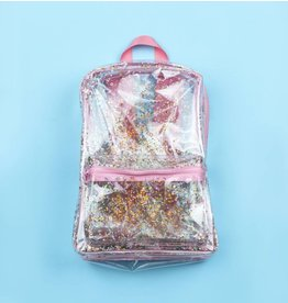 A little lovely company Rugzak Glitter Transparant/Pink