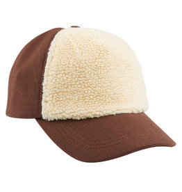 CarlijnQ CarlijnQ Caps- Brown with Fake Fur