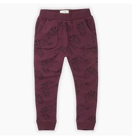 Sproet & Sprout Sproet & Sprout Sweatpants Chameleon All over print Burgundy