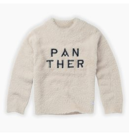 Sproet & Sprout Sproet & Sprout Sweater Panther Text Milk