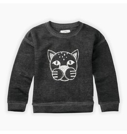 Sproet & Sprout Sproet & Sprout Sweatshirt Panther head Washed Black