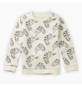 Sproet & Sprout Sproet & Sprout Sweatshirt Chameleon All over print Milk
