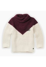 Sproet & Sprout Sproet & Sprout Sweater Colourblock Burgundy