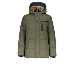 Bellaire Bellaire Bowan Hooded Midlong Parka-Dark Grey Green
