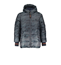 Bellaire Bellaire Ben Hooded Camouflage Jacket-Dark Grey Blue