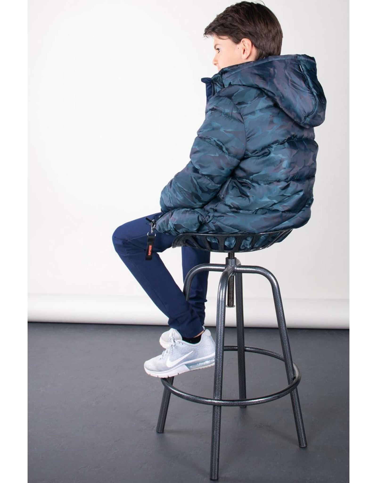 Bellaire Bellaire Ben Hooded Camouflage Jacket-Dark Grey Blue