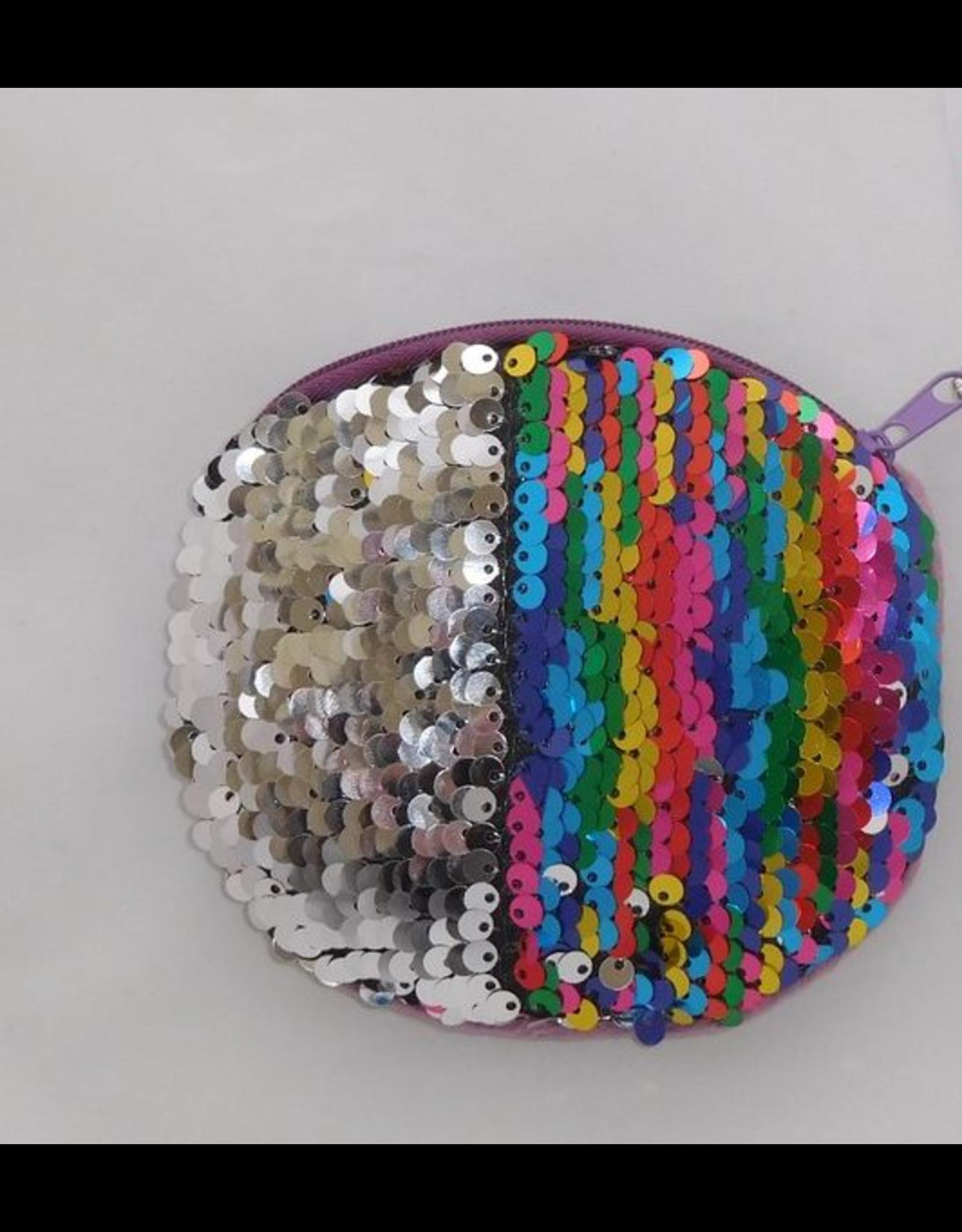 Heppiedi Heppiedi  Portomonee wrijf Pailletten Multicolor