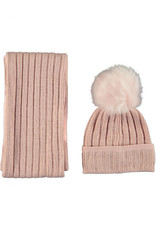 Le Chic Le Chic Knitted Hat En Scarf-Victorian Pink