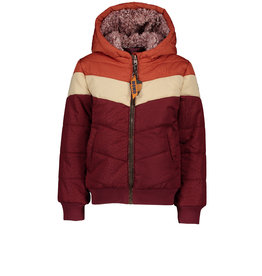 TUMBLE 'N DRY NONO BeyB Color Block Animal Jacquard Bomber- Wine Red