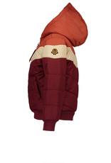TUMBLE 'N DRY NONO BeyB Color Block Animal Jacquard Bomber- Wine Red