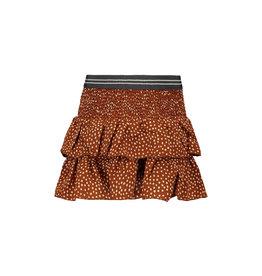 Like Flo Like Flo Girls Woven AO Smock Skirt- Cognac